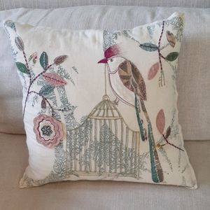 Don't Cage Me In Bird Throw Pillow ❤️